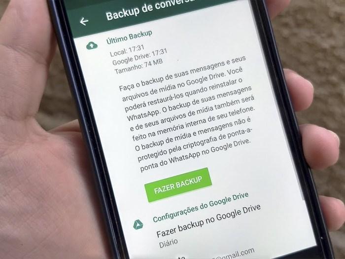 Como Fazer Backup De Conversas Do Whatsapp