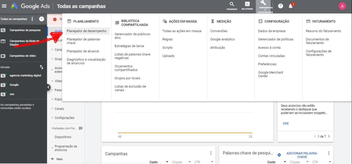 Planejador De Palavras Chaves Do Google Ads