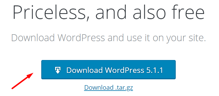 Baixe WordPress