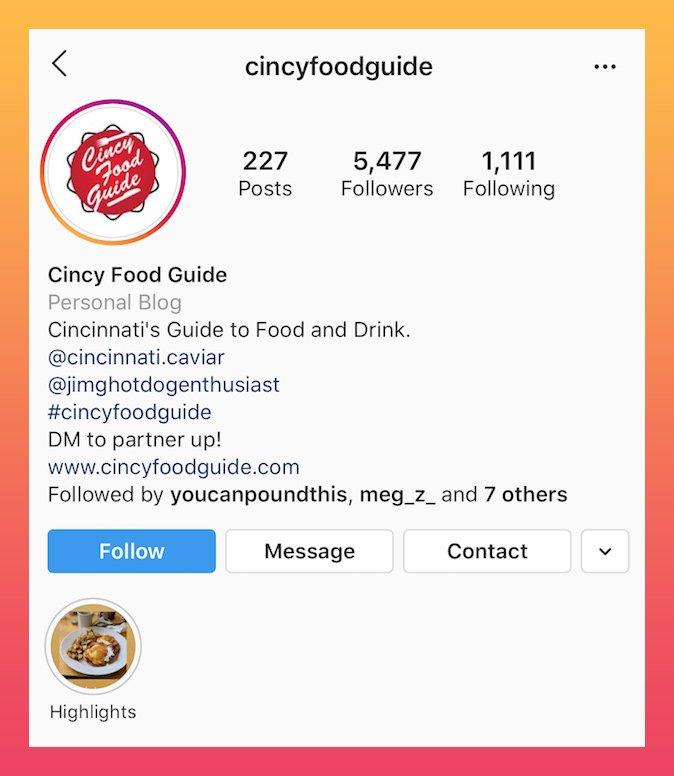 boa bios do Instagram relacionados com comida