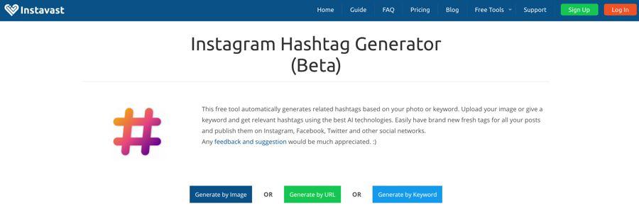 gerador de hashtag instavast instagram