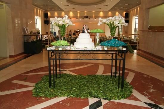 Casamento da Ana: mesa do bolo