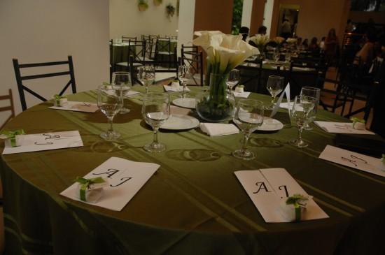 Casamento da Ana: decoração das mesas