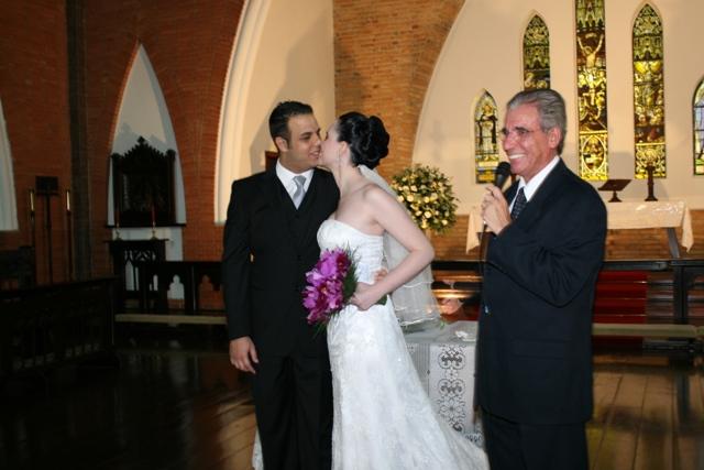Casamento - cerimônia - pastor Lisâneas  apresenta à comunidade seu mais novo casal - Catedral Anglicana de São Paulo - Cintia e Cauê
