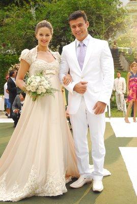 Os noivos, Maria e Marcelo