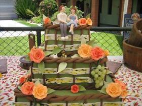 Casamento de boteco: bolo