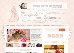 Novo layout do blog Planejando Meu Casamento
