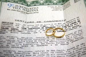 Certidão de casamento civil