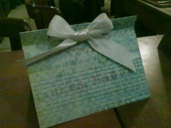 Livro de assinaturas de noivado azul