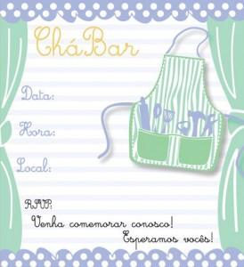 Convite de chá bar para download