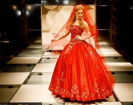 Vestido de noiva vermelho