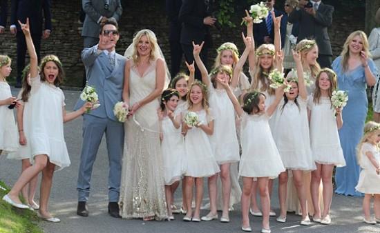 Damas de honra do casamento de Kate Moss e Jamie Hince