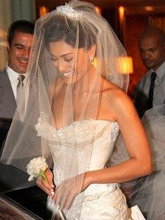 Casamento: véu de noiva de Juliana Paes