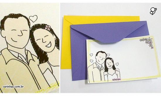 Cartão de agradecimento Carinhas Personalizadas