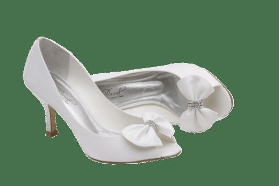 Calçados de noiva: peeptoe de noiva branca da Durval Calçados