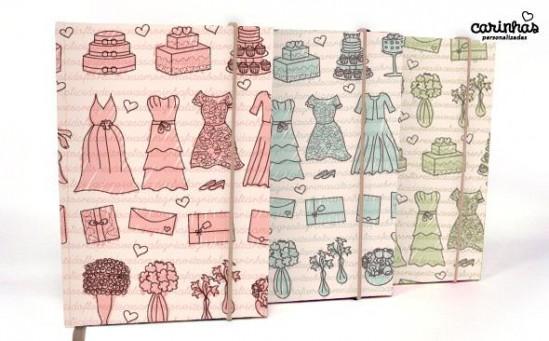 Agenda da noiva 2012. Carinhas Personalizadas.