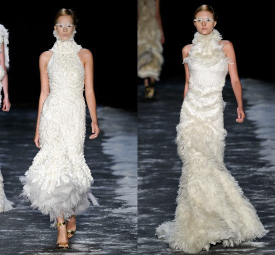 Vestidos de noiva desfile Samuel Cirnansck Inverno 2012 SPFW: gola rolê