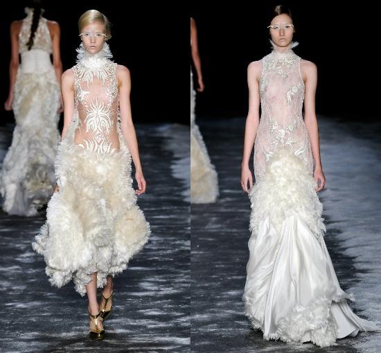 Vestidos de noiva desfile Samuel Cirnansck Inverno 2012 SPFW: transparências sexy