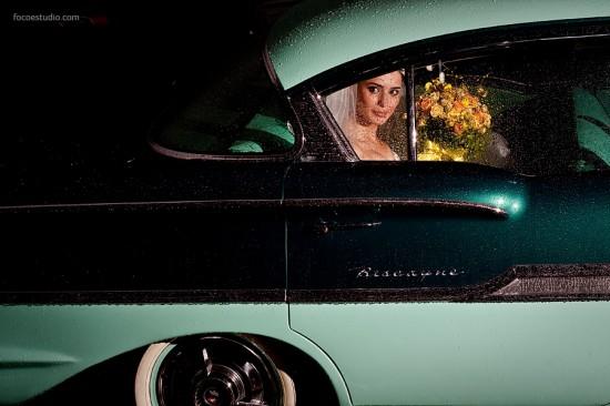 Casamento com chuva. Foto: Foco Estúdio.