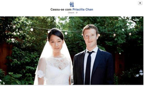 Casamento Mark Zuckerberg e Priscilla Chan: marcado na timeline do Facebook