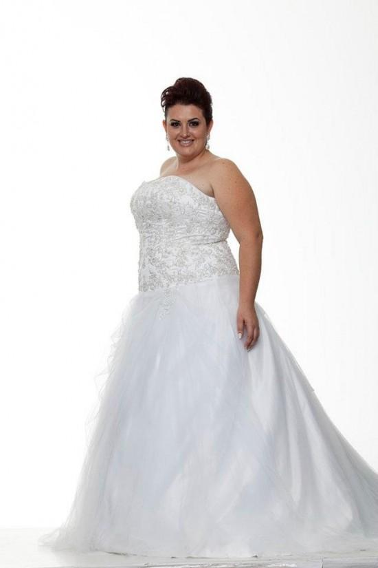 Vestido de noiva para gordinhas da Fashion Noivas