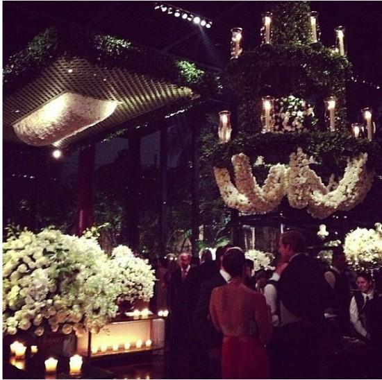 Decoração de festa de casamento da Casa Fasano para casamento de Lala Rudge.