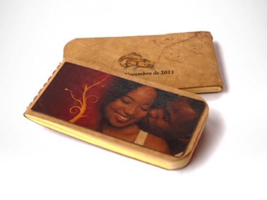 Lembrancinha de casamento sustentável: caderno reciclado Moleco.