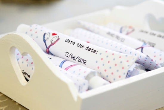 Save-the-date de casamento: bisnaga de brigadeiro (tubo de pasta de dente)