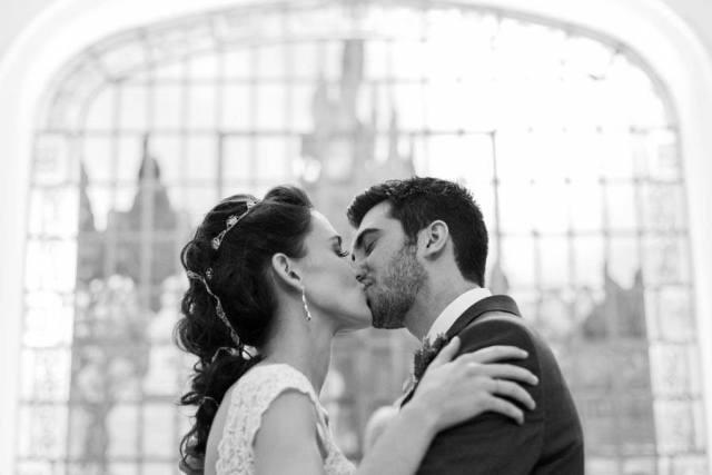 Casamento: o beijo dos noivos. Foto: danilo Siqueira.