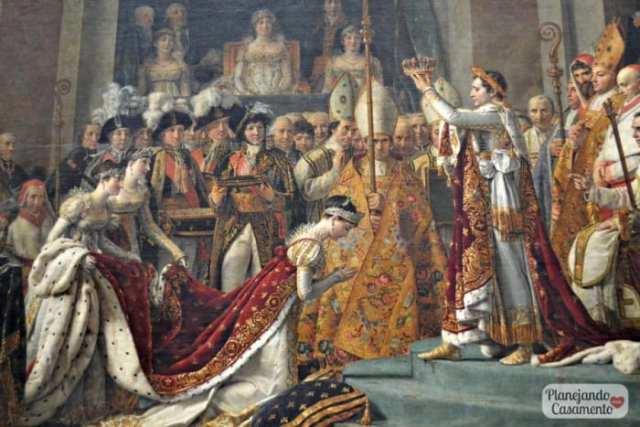 A Coroação de Napoleão. Foto: Cíntia Costa/ Planejando Meu Casamento.