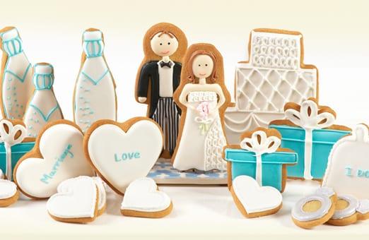 Biscoitos decorados para casamento. Foto e biscoitos: Elenis New York.