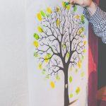 Livro de assinaturas de casamento: árvore de digitais. Foto: Clique Pausa.