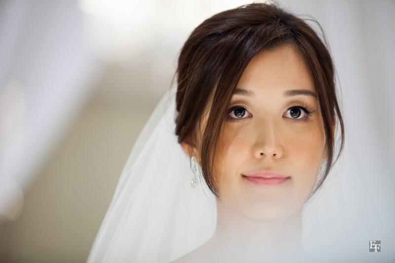Maquiagem natura e nude para noiva oriental. Foto: Edu Federice.