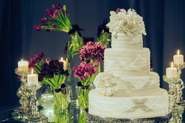 Bolo do casamento de Roberto Justus e Ana Paula Siebert.