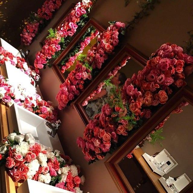 Decoração do banheiro do casamento de Preta Gil e Rodrigo Godoy.