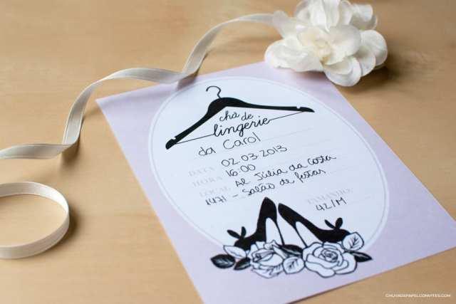Convite de chá de lingerie para download grátis da Chuva de Papel.