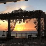 Pôr do sol no casamento de Wesley Safadão e Thyane Dantas.