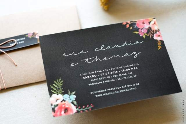 Guia de Fornecedores de Casamento: Convites de casamento do Estudio Tatu.