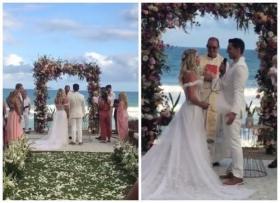 Casamento de Karina Bacchi e Amaury Nunes. Foto: @quengaralnews