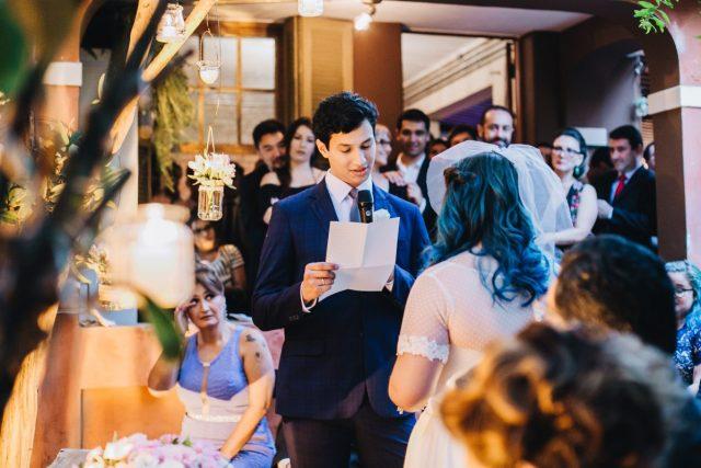 Casamento Dani e Raul: votos de casamento. Foto: Canvas Ateliê.