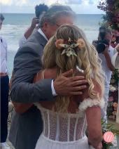Penteado de noiva do Casamento de Karina Bacchi e Amaury Nunes. Foto: @centraldanoiva