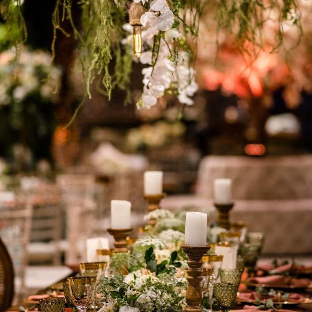 Decoração buffet - Casamento Viviane Araújo e Guilherme Militao