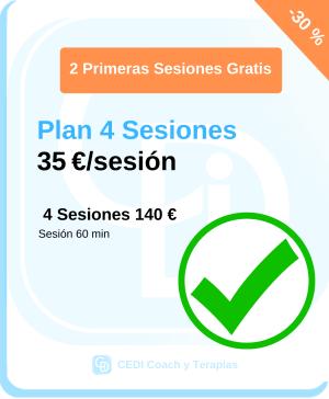 Planes CEDI Coaching Terapias Pack Sesiones (4)
