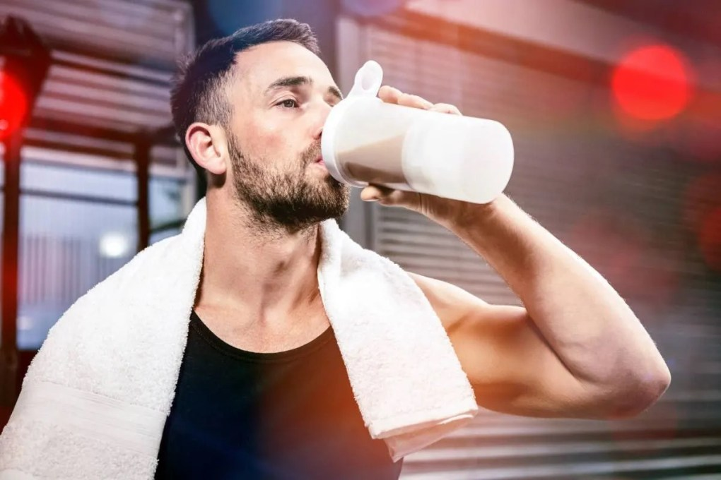beber un batido de proteinas para correr