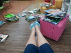 At one stage, I spent a few days cataloguing the English reading books. The best part? No shoes in the reading corner!
