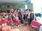 Random groups of kids showed up in my classroom to come and sing happy birthday. In English! :D