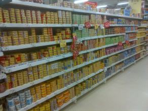 All these cans - every single, last one of them - are tuna. Lots and lots of tuna.
