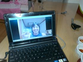 Skype chat with Zelda. She stays about 2 hours away from me, so we hang out in other ways. :)