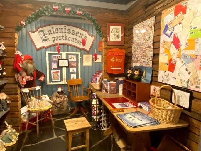 santa's workshop in Drøbak with letters to santa from children