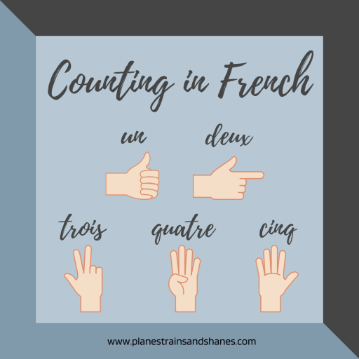 Learn how to count to five in French. These hand signals are used when counting, and are especially helpful at a boulangerie.